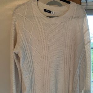 oversized cream sweater Urban Outfitters